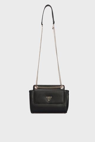 Женская черная сумка SANDRINE CONVERTIBLE CROSSBODY Guess