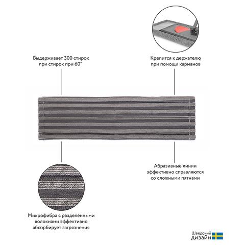 Набор из телескопической ручки 160 см и сменной насадки из жесткой микрофибры