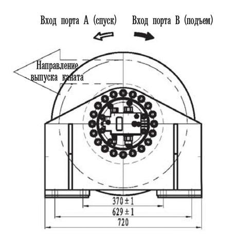 Стандартная лебедка IYJ333-80-168-20-ZPG