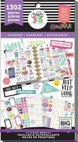 Блокнот со стикерами для ежедневника Create 365 Happy Planner Sticker Value Pack-BIG - Fri YAY - Student- 1302 шт