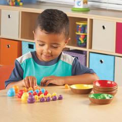 Учимся сортировать и считать с игрой Цветные гнёздышки Learning Resources