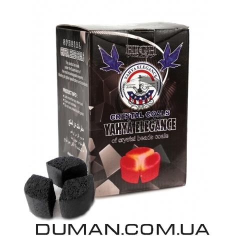 Натуральный кокосовый уголь для кальяна Yahya Elegance (Яхуа Элеганс) | 1кг 72шт Под калауд