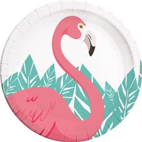 Тарелка Фламинго 23см 8шт/P