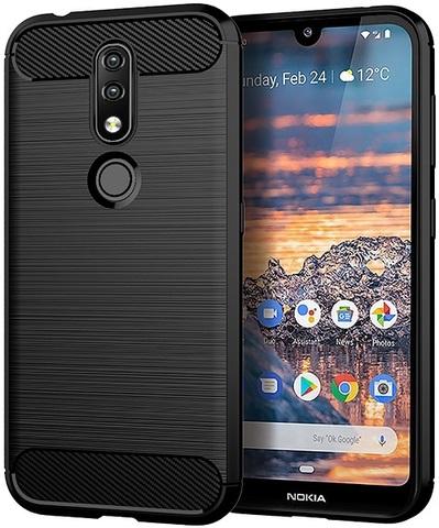 Чехол Nokia 4.2 цвет Black (черный), серия Carbon, Caseport