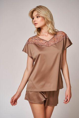 Пижама 60468 коричневый Laete