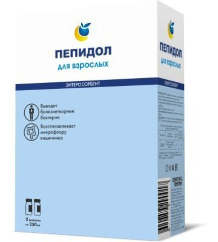 Пепидол ПЭГ 5проц р-р 2х250мл  для взрослых