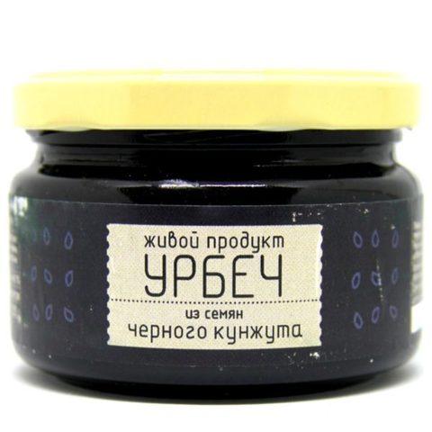 Урбеч из семян черного кунжута, 225 гр. (Живой продукт)