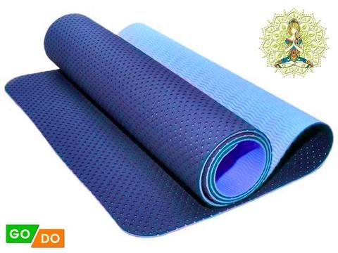 Коврик для йоги и фитнеса: TJD-FO066  (Синий - С+Г)