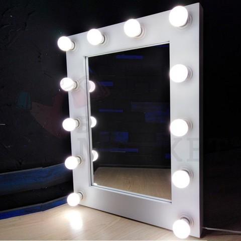 Гримерное зеркало 600мм*800мм (12 ламп)