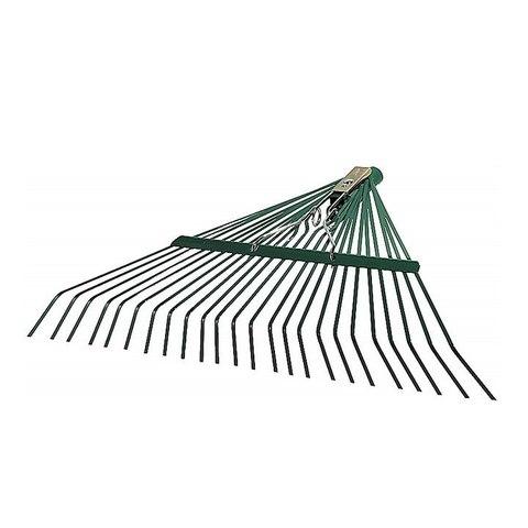 Грабли веерные RACO усиленные, 24 плоских зубца, эпоксидное покр., 600мм