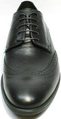 Мужские туфли броги под костюм Ikos 1157-1 Classic Black.