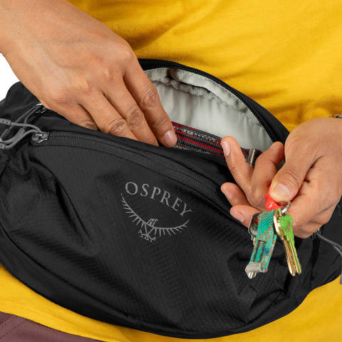 Картинка сумка поясная Osprey daylite waist Honeybee Yellow/Deep Sea Blue - 4