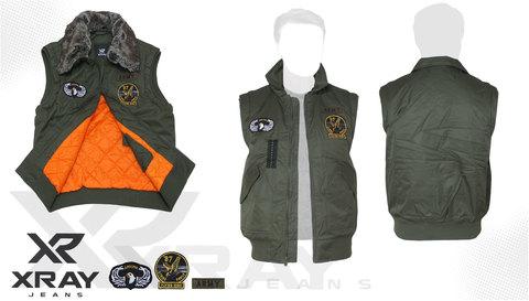 Жилет утеплённый 'Flight Vest Fur W/Patches' Olive