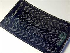 Металлизированные наклейки Arti nails Stiker цвет серебро №19