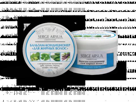 Бальзам-кондиционер Для жирных волос 250 мл НИИ Натуротерапии ТМ Serge Arsua