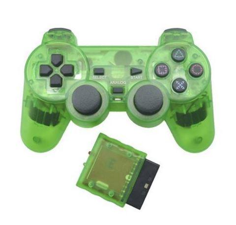 Беспроводной контроллер DualShock 2 (зеленый, копия)