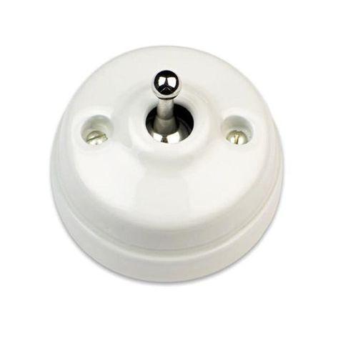Выключатель/кнопка тумблерный 10А 250В~/24В. Цвет Белый/хром. Fontini Dimbler(Фонтини Димблер). 60312442