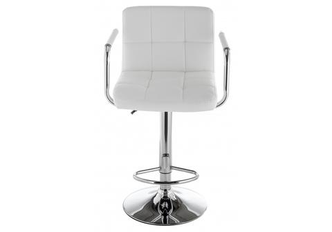 Барный стул Turit белый 54*54*89 Хромированный металл /Белый