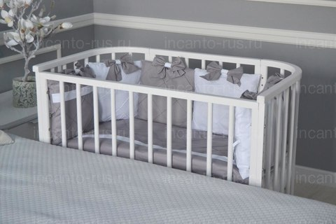 Кровать приставная Incanto Leeloo цвет белый