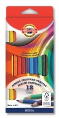 Карандаши цветные 2112 с рифленой поверхностью, 12 цветов