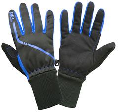 Теплые лыжные перчатки Ray Arctic Black-Blue 21-22