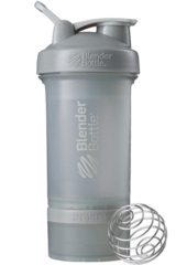 BlenderBottle ProStak, 650мл Шейкер с 2мя контейнерами, таблетницей и пружиной серый