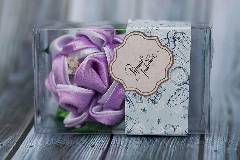 Этиклейка на упаковку для мыла Новый год
