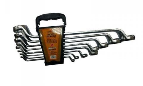 Набор ключей накидных 8 предметов (6х7, 8х10. 12х13, 14х17,19х22, 24х27, 30х32) холодный штамп CR-V СЕРВИС КЛЮЧ (70505)