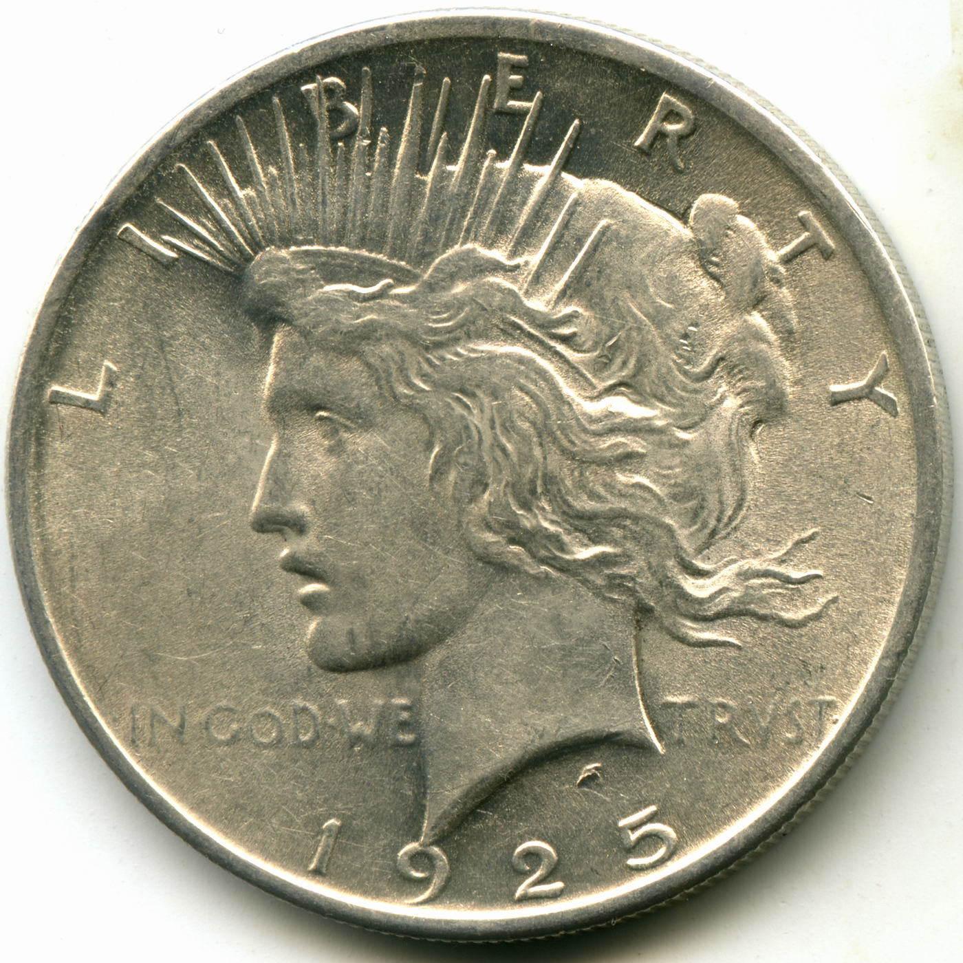 1 доллар 1925. США XF-AU (Мирный)