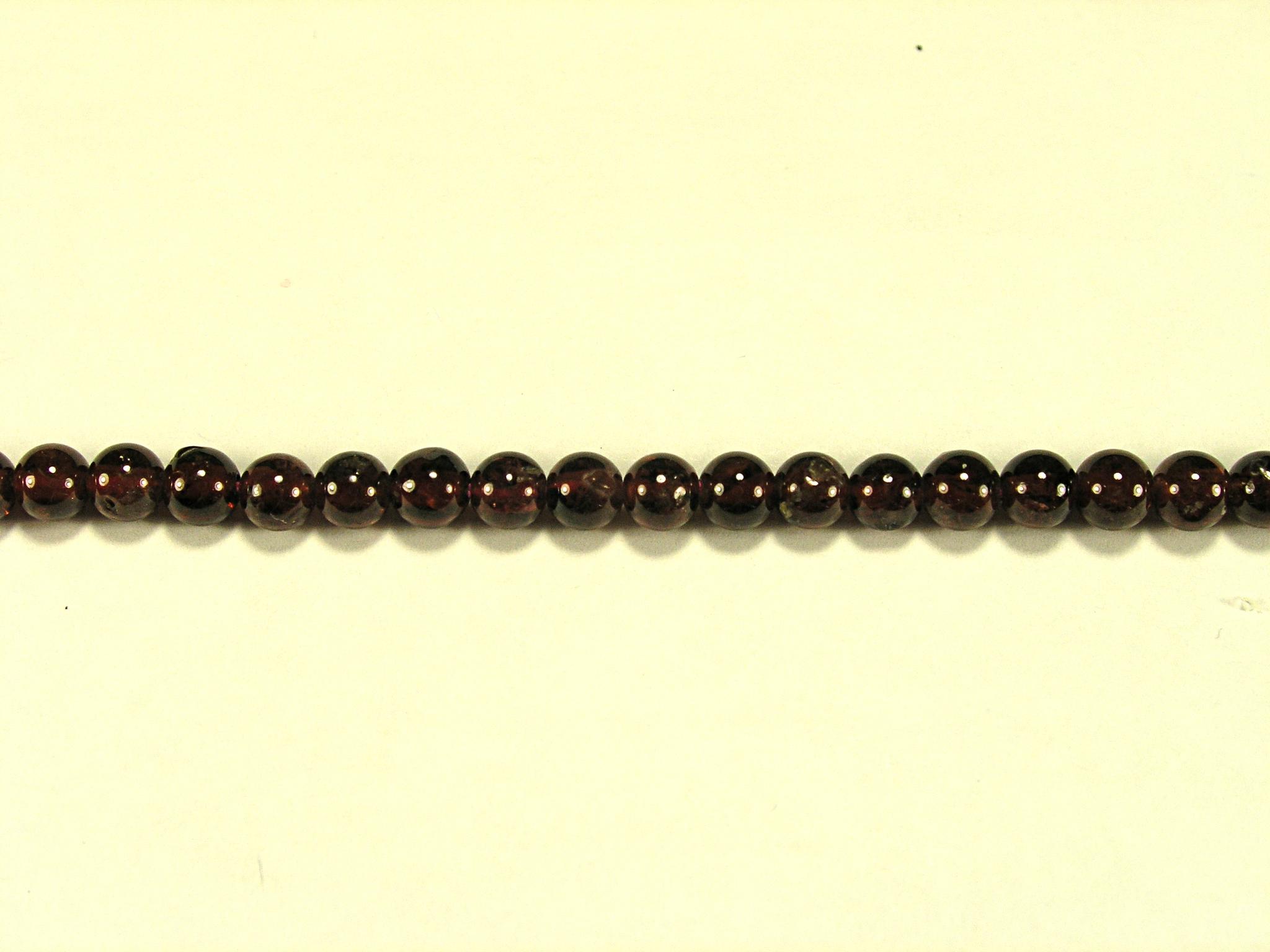 Бусина из граната светлого (альмандина), шар гладкий 4мм