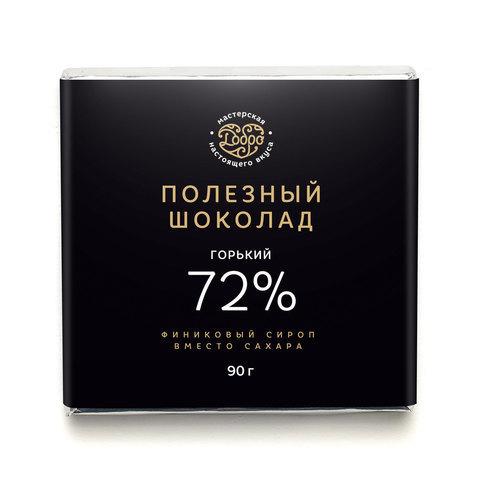 Добро Шоколад Горький, 72% какао на пекмезе (классический), 90 гр.