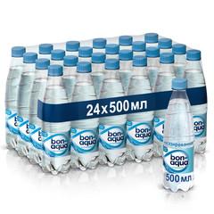 Вода питьевая BonAqua негазированная 0.5 л (24 штуки в упаковке)