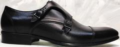 Строгие мужские туфли без шнурков Ikoc 2205-1 BLC.