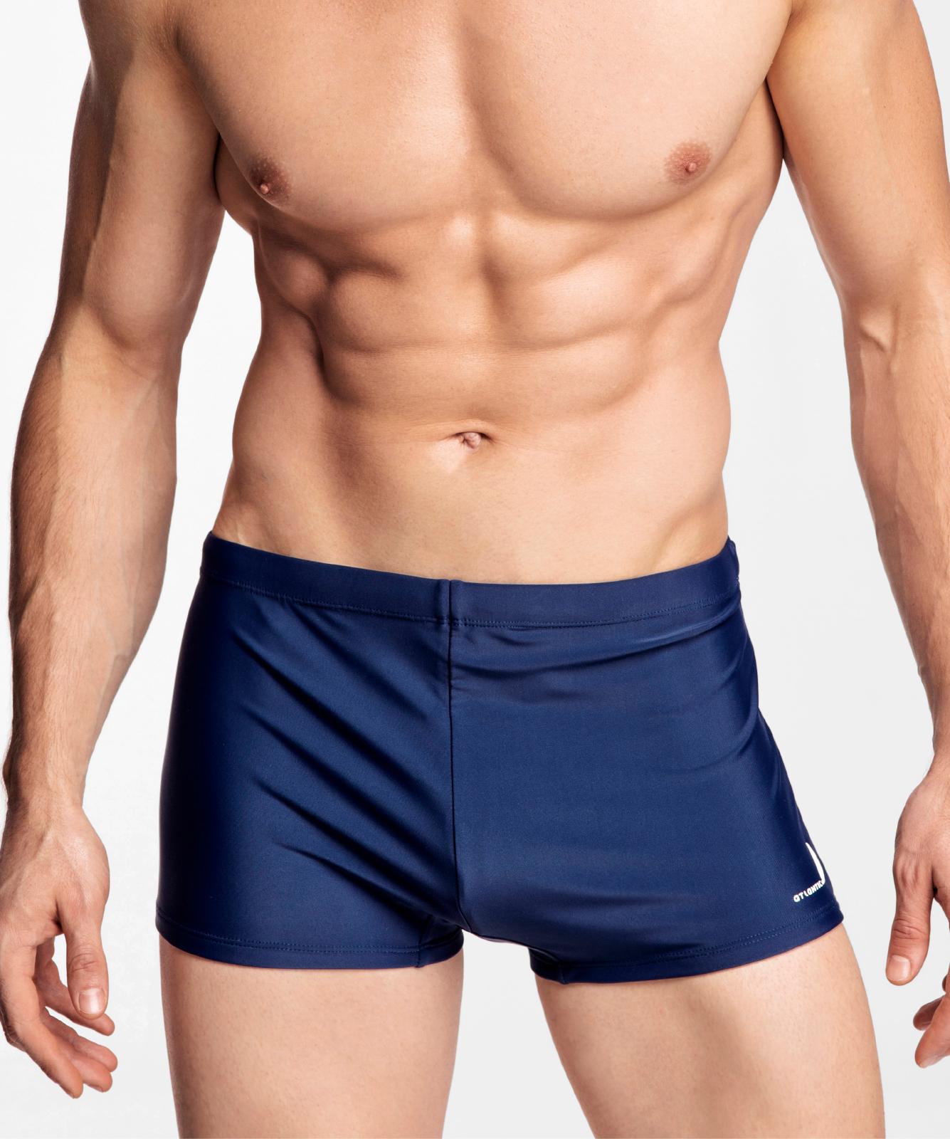 Купальные шорты мужские Atlantic, 1 шт. в уп., полиамид, темно-синие, KMS-310