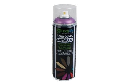 Спрей Краска Floralife 400мл Aqua розовый металлик
