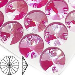 Купить оптом пришивные стразы Neon Rose AB, Rivoli в интернет-магазине