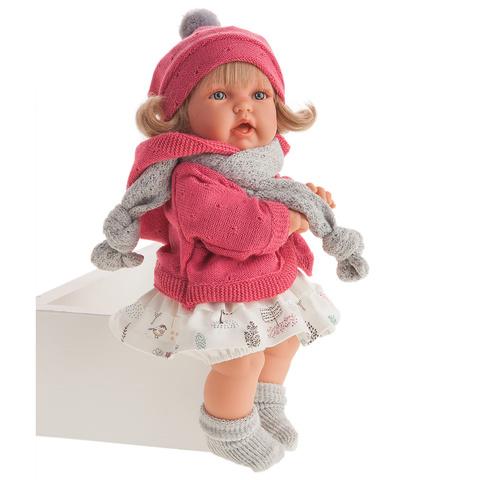 Antonio Juan. Кукла Солидад в коралловом, озвученная   (мама, папа, смех)., 27 см