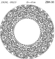 Эскиз для росписи, Зеркало диаметр-45см, SMAR-ZBK-30
