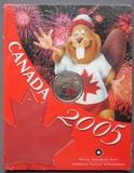 K8763, 2005, Канада, 25 центов День Канады Бобер буклет блистер