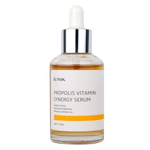 Витаминная сыворотка для кожи лица с экстрактами прополиса и облепихи 50 мл iUNIK Propolis Vitamin Synergy Serum