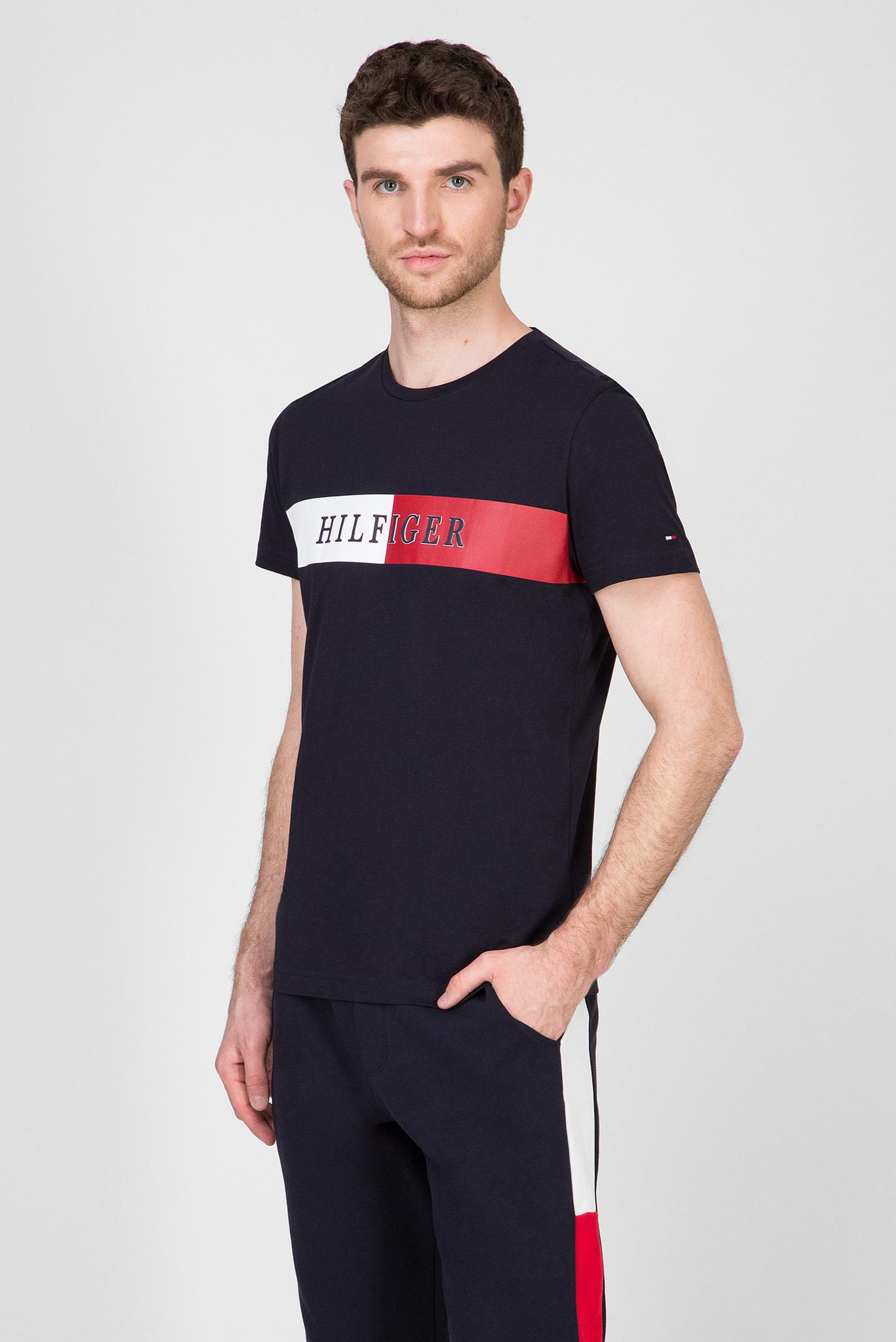 Мужская темно-синяя футболка BLOCK STRIPE Tommy Hilfiger