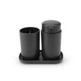 Набор аксессуаров для ванной комнаты ReNew, 3 пр., Темно-серый, артикул 280368, производитель - Brabantia