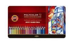 Набор художественных цветных карандашей POLYCOLOR 72 цвета в металлической коробке