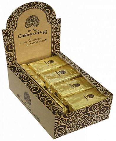 Конфеты марципан кедровый, Сибирский Кедр, в шоколаде, шоу-бокс, 50 г, 24 шт