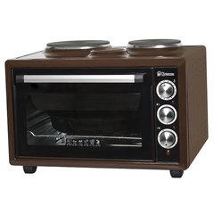 Мини печь | Духовка электрическая 39л ВАСИЛИСА ВС-2К39 двухконфорочная коричневая