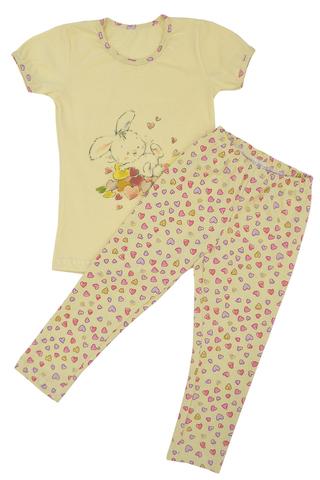 Пижама для девочки (футболка+лосины) 100% хлопок купить в ассортименте