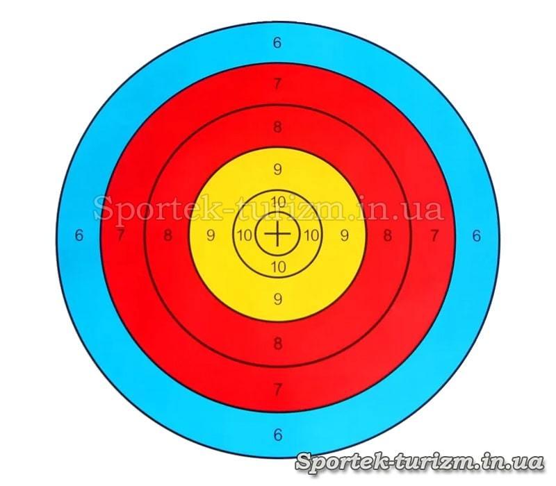 Бумажная мишень 40х40 см для стрельбы из лука или арбалета