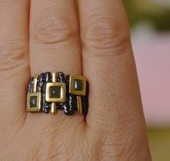 Лусона-нефрит  (кольцо  из серебра)