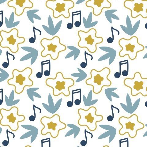 Цветы и ноты