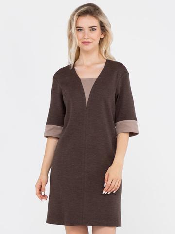 Фото повседневное трикотажное платье с рукавом до локтя - Платье З133-211 (1)
